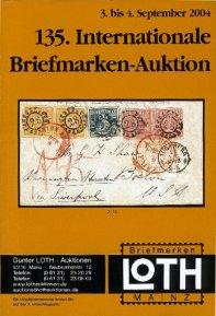 135^ asta internazionale di francobolli dal 3 al 4 settembre 2004
